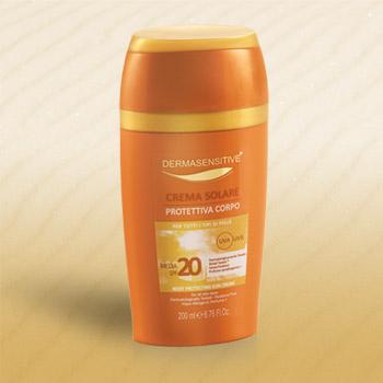 crema solare protettiva corpo 20+