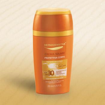 crema solare protettiva corpo 30+