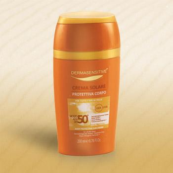 crema solare protettiva corpo 50+