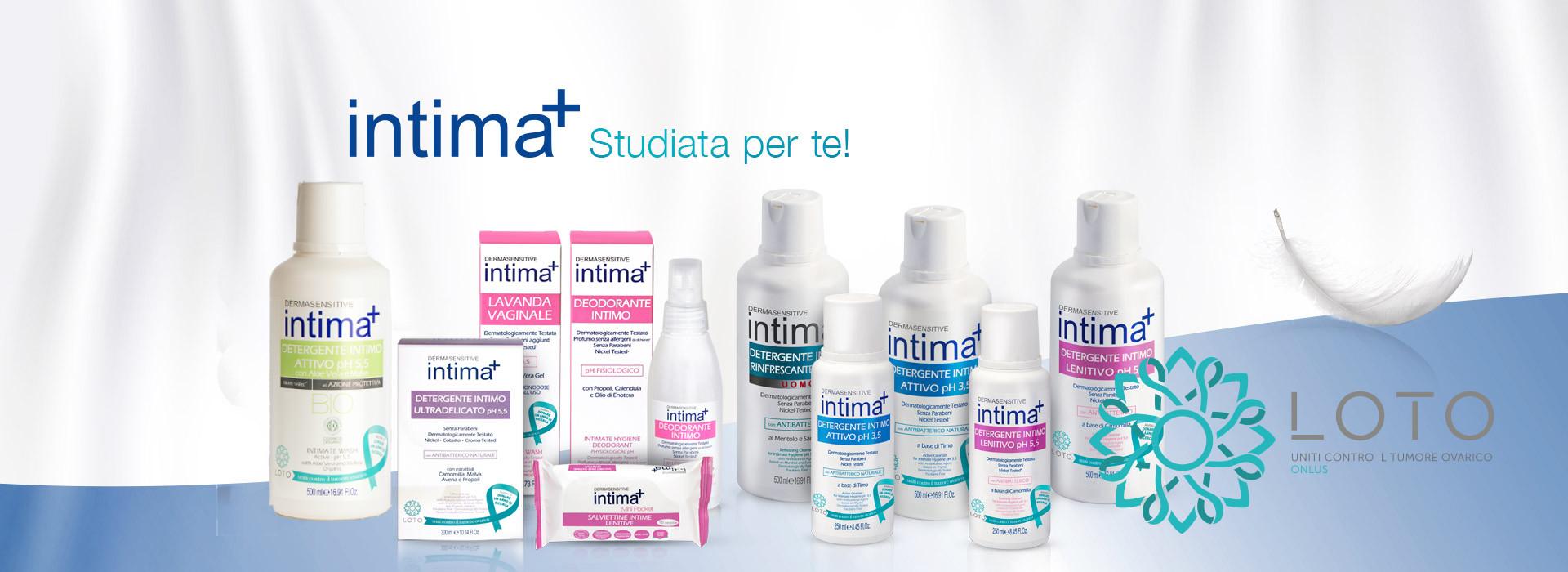 Detergenti intimi Intima + Dermasensitive per l'igiene intima quotidiana