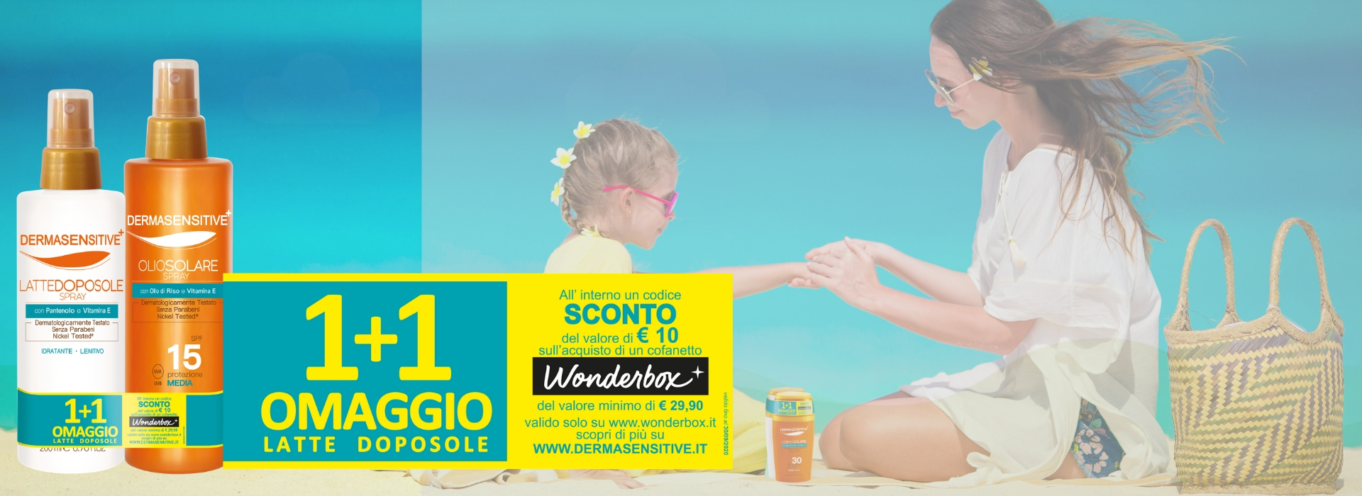 Acquista i solari Dermasensitive: sconto del 10% su pacchetto Week end Wonder Box
